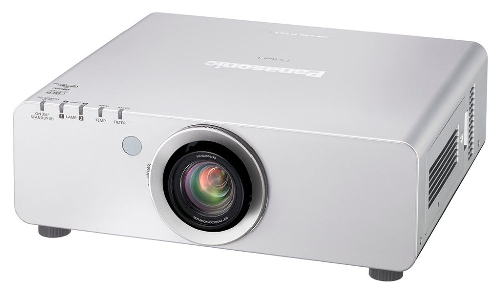 Panasonic PT-DX610ES XGA DLP Installation Projector from Ivojo Multimedia Ltd. http://www.ivojo.co.uk/projector-spec.php?pid=Panasonic_PT-DX610ES: 6500 ANSI Lumens, 2000:1 contrast ratio, 16kg., 3 year with loan support if available warranty.